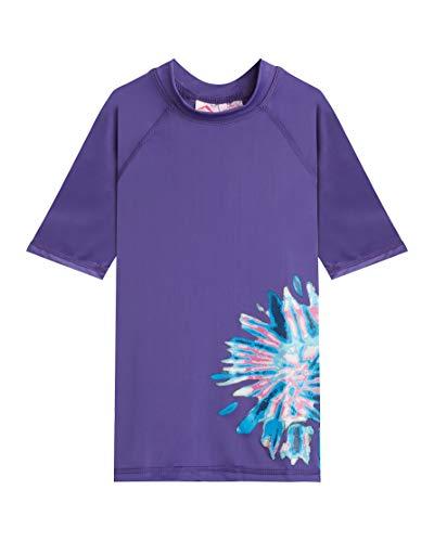 Kanu Surf Mädchen Karlie UPF 50+ Sun Protective Rashguard Swim Shirt Rash Guard Hemd, Camille Purple, 5 Jahre