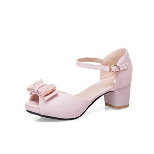 Agoni Goud Sandaal Haken, Vrouwen Sandaal Mode Hak Peep Toe Zoete Boeg Casual Pu Zomer Feest & Feestdagen Comfortabele Sandalen