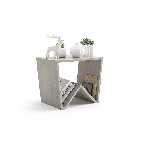 Mobili Fiver, Tavolino da Salotto Emma, Cemento, 50 x 33 x 40 cm, Nobilitato, Made in Italy