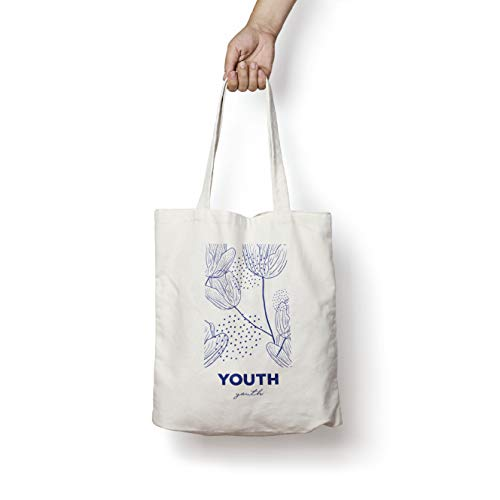 HYO Youth, Tote bag Unisex Adulto, algodón natural, 37 x 41 cm