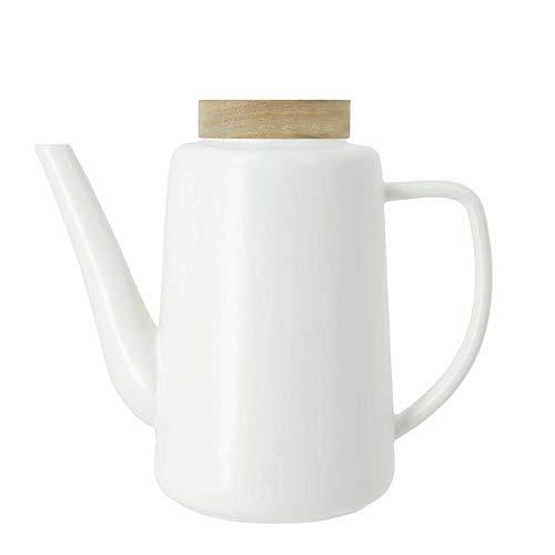 OGO LIVING 7912016 Teekanne aus Porzellan, 1,2 l, Weiß, 1,2 l
