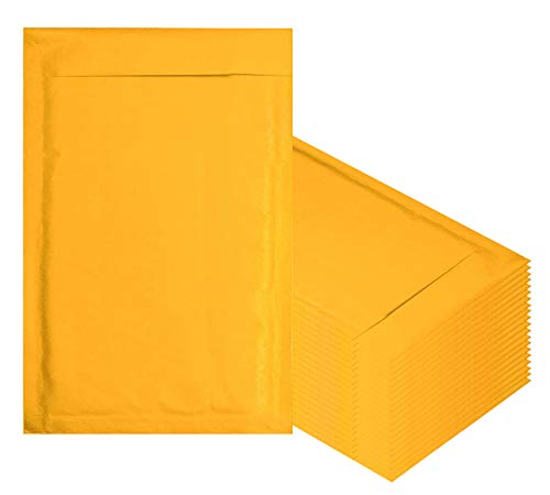 Amiff Kraft bubble mailers 6x9 Padded envelopes 6 x 9 Pack of 10 Kraft Paper cushion envelopes Exterior size 7x10 (7 x 10) Peel & Seal Mailing shipping packing packaging