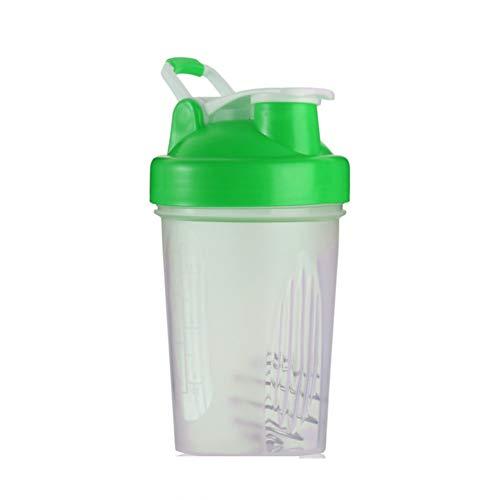 JICHUI La proteína de Mano Diseño PP 400ML Gimnasio Shaker Mixer Botella portátil de Deporte de la Botella de Jogging batidor Bola Shaker