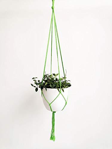 B/H Panier Suspendu Fleur Artificielle,Panier Suspendu de Corde de Chanvre, Tenture Murale de Panier de Fleurs de Poche Nette-Green Net Pocket,Pot de Fleur Cintre décoration de la Maison