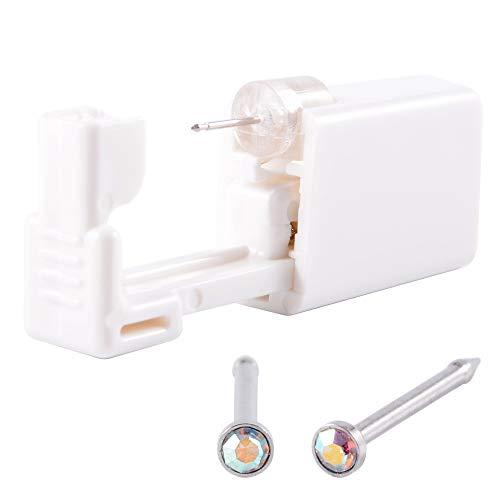 CHUANCI 1 unidad de piercing estéril desechable seguro unidad para gema nariz clavos pistola perforadora herramienta Kit de máquina de arete de pendientes joyería corporal