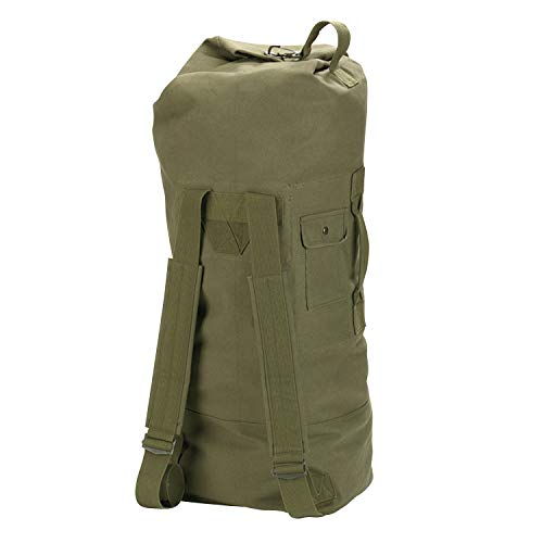 Rothco Gi Style Canvas Double Strap Duffle, Olive Drab