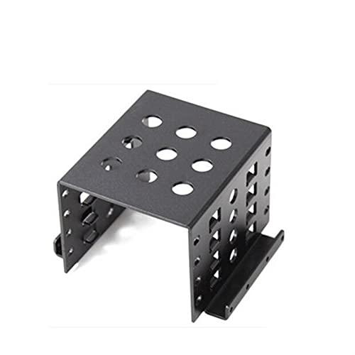 """disco duro Adaptador de 4-Bahía de 2.5 """"a 3.5"""" pulgada Adaptador Hard Drive Caddy SSD CHASIS DE ALUMINIO Aleación de chasis duro Montaje interno Bandeja Caddy Bay Kit de instalacion ( Color : Black )"""
