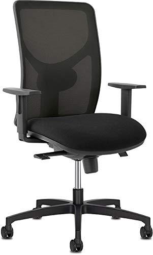 Sitland Sit 1 Bureaustoel - Zwarte Mesh Rugleuning - Zwarte Stoffen Zitting