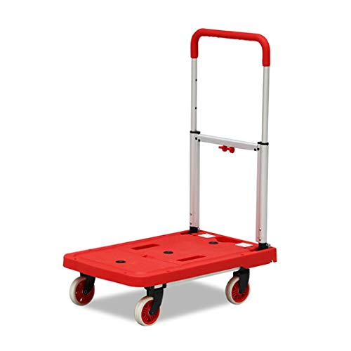 Trolley Carretillas de Mano Carretilla De Nylon Anti-presión Silla Plegable del Coche De Aleación De Aluminio Palanca De Mano Ajustable Carro De Almacén De La Oficina En Casa