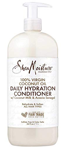 Shea Moisture Moisturizing Conditioner Coconut Oil Daily Hydration, Made with Real Coconut Oil, 34 Fl Ounce