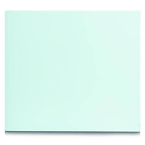 Zeller 26282 - Lastra copri piano cottura, in vetro, colore: Bianco