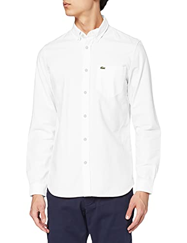 Lacoste CH4976 Camisa, Blanco (Blanc), X-Large (Talla Del Fabricante: 43) Para Hombre