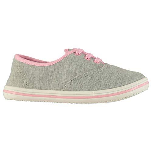 Slazenger Kinder Baby Sportschuhe Sneaker Sommer Grau Meliert/Rosa 25 EU
