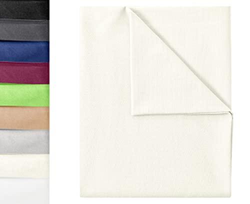 GREEN MARK Textilien Klassische Bettlaken | Betttuch | Laken | Leintuch | Haustuch 100% Baumwolle ohne Gummizug vielen Größen und Farben Größe: 150x250 cm, Natur/Creme