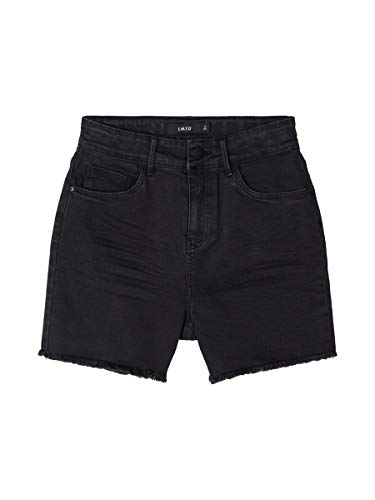 NAME IT Limited by Girl Jeansshorts High Waist Mom Fit 152Black Denim