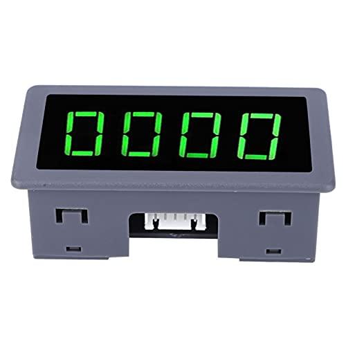Tacómetro de motor LED de 4 dígitos con voltaje de suministro amplio de 8-24 V, interruptor de proximidad de tacómetro verde, 40 mA para motosierra marina, lectura de 4 dígitos(Speedometer)