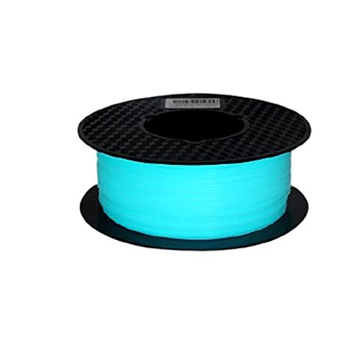 Hand Drums Filamento de la Impresora 3D Brilla en la Oscuridad PLA Filamento Resplandor Verde Azul filamento Luminoso Verde Azul PLA Filamento Materiales de impresión 3D 700g 1KG (2.2 LBS) Carrete