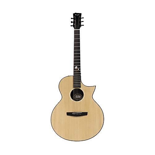 Kit de Inicio de ukeleles 41 Pulgadas Pro Spruce Chapa Sharp-ángulo Guitarra acústica con la Guitarra Bolsa - Versión Normal/con Pickup (Color : As Shown, tamaño : Normal Version)
