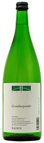6 Flaschen Grauburgunder tr. 1l 2019 im Sparpack Weinhaus Heger, trockener Weisswein aus Baden