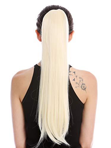 WIG ME UP - YZF-1094S-613 Postiche couette queue de cheval peigne et élastique/bandelette longueur 63 cm lisse blond clair blond lumineux