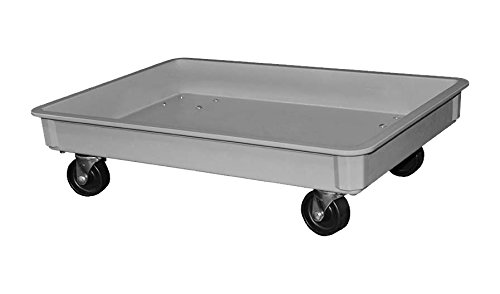 """Toteline 8701485136 Dolly with 3"""" Casters for Stacking Containers, Glass Fiber Reinforce, Plastic Composite, 25.75"""" x 17.75"""" x 3"""", Gray"""