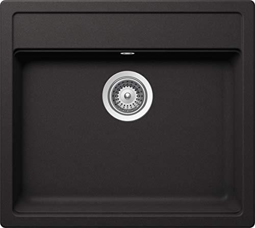 SCHOCK Küchenspüle 57 x 51 cm Nemo N-100 Nero - CRISTALITE schwarze Granitspüle ab 60 cm Unterschrank-Breite