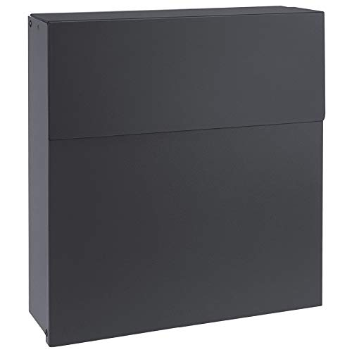 Design-Briefkasten anthrazit-grau (RAL 7016) MOCAVI Box 570 hochwertiger Wand-Postkasten groß modern wetterfest rostfrei deutsche Markenqualität