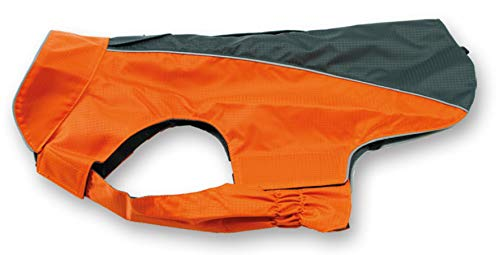 Jeggo Hundemantel Wasserdicht Allwetter Regen Jacke Hunde Weste XXS XXL (M, Anthrazit/Orange)