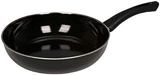 Riess, 0042-022, Gourmetpfanne 24, CLASSIC - SCHWARZEMAILLE, Durchmesser 24 cm, Höhe 5,6 cm, Inhalt 1,80 Liter, Emaille schwarz, Bratpfanne