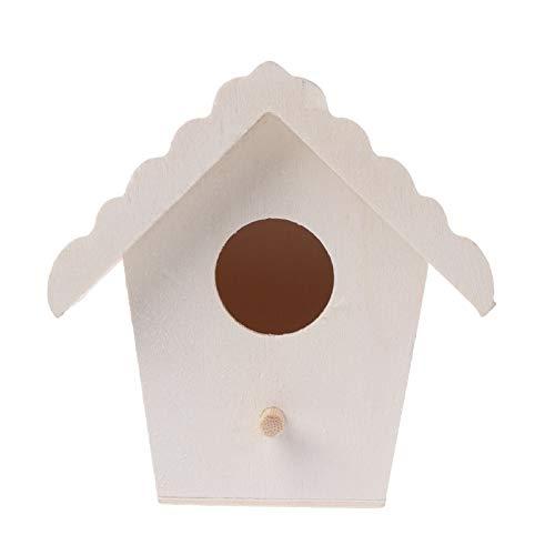 Mingmo Kit Gabbia per Uccelli da Volo Gabbia per Uccelli Birdcage Appeso a Parete Creativo casa in Legno Naturale Gabbie per Uccelli da Compagnia