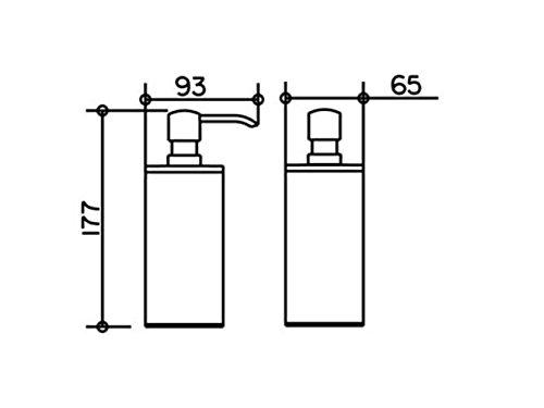 Dispensador de loción modelo independiente KEUCO Plan 14952 bomba/plástico anodizado 14952170100