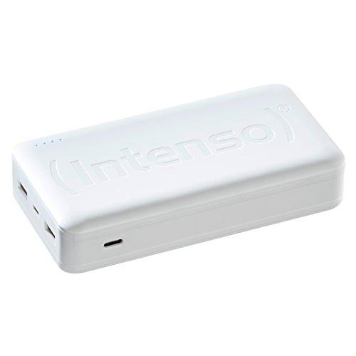 Intenso Powerbank HC20000 externes Ladegerät (20000mAh, geeignet für Smartphone/Tablet PC/Notebook/MP3 Player/Digitalkamera) weiß
