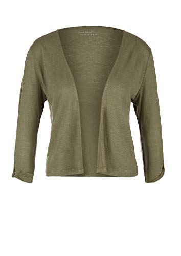 s.Oliver Damen 3/4 Arm T-Shirt, Khaki, 38