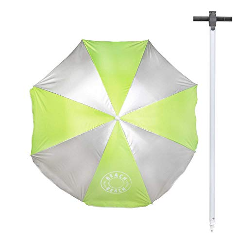 Aktive 62210 - Sombrilla playa 180 cm Pincho integrado y Protección UV 50 Verde Beach