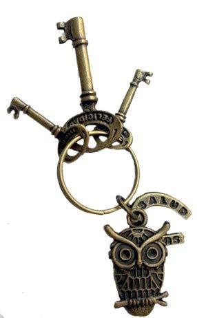 Llavero amuleto BUHO de la suerte y estudios (Completo, preparado y ritualizado