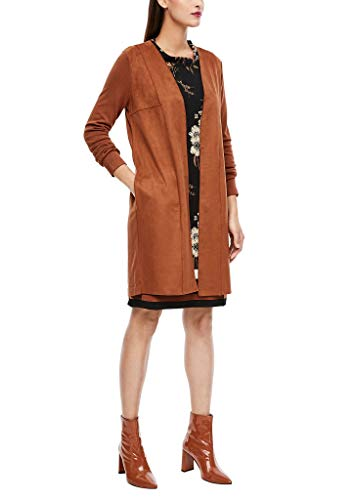 s.Oliver BLACK LABEL Damen Cardigan mit Velours-Front Brown 42