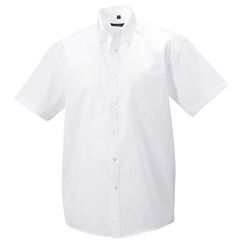 Russell - Chemise à manches courtes sans repassage - Homme (Tour de cou 47cm) (Blanc)