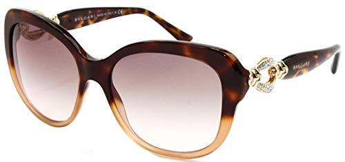 Bulgari Damen 0Bv8180B 53623B 57 Sonnenbrille, Braun (Brown/Pink Grey)