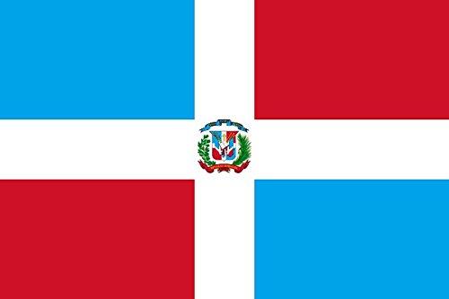 Gran Bandera de Dominicano 150 x 90 cm Satén Durobol Flag