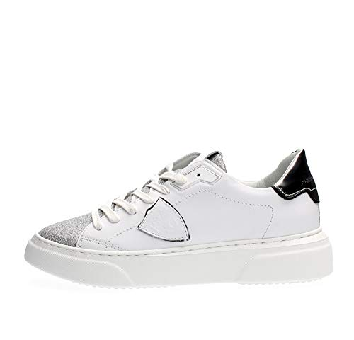 Philippe Model Sneakers Donna Glitter 'Temple S' Bianco BYLDVG01 38