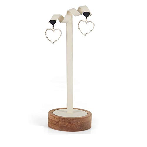 GJHT Jewelry Organizer Holder Earrings Ear Jewelry Storage Shelf Display Stand Jewelry Creative Earrings Shelf Jewelry Display Stand for Rings Bracelets (Color : White, Size : 16x6cm)