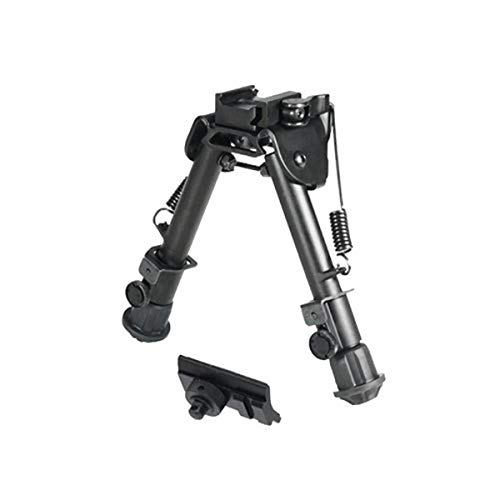"""UTG TL-BP78Q, Leapers INC, Tactical OP Bipod, Altezza 5.9""""-7.3"""" Unisex-Adulto, Nero, 5.9-7.3in"""