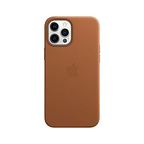 Apple Leder Hülle mit MagSafe (für iPhone 12 Pro Max) - Sattelbraun