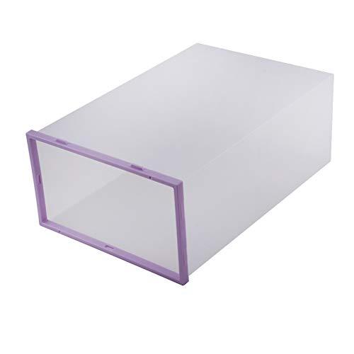 Contenedores de almacenamiento, cajas de plástico para guardar zapatos de 5 piezas, que ahorran espacio plegable para revistas, zapatos, libros