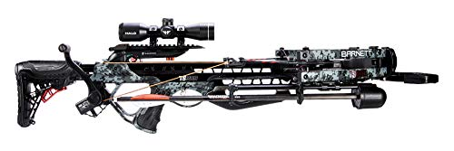 Barnett TS380 Crossbow with Crank Cocking Device | Elite Crossbow Premium Scope, Arrows, Quiver & Crank Cocking Device, Digital Gray