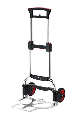 RuXXac 2234-81V3 - Carretilla plegable con nuevas funciones, capacidad de carga de 125 kg, color negro