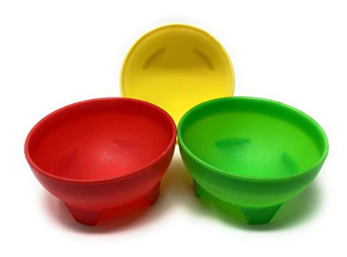 Set of 3 Salsa Bowl, Serve Salsa, Guacamole, Dips, and Your Signature Hot or Cold Side Dishes, 4.5 inches Diameter Bowl, Microwave, Freezer and Dishwasher Safe, BPA Free (3)