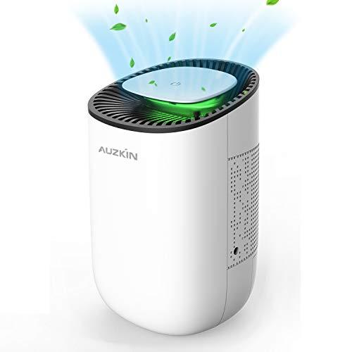 AUZKIN Luftentfeuchter, Elektrischer Entfeuchter 600ml Tragbarer Raumentfeuchter Leise Luftreiniger für Schrank, Badezimmer, Keller, Schlafzimmer, Büro