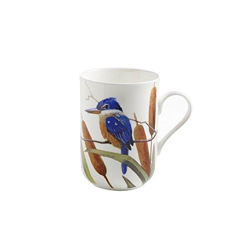 Maxwell & Williams PBD130 Birds of Australia Becher, Kaffeebecher, Tasse mit Vogelmotiv: Götzenliest, in Geschenkbox, Porzellan