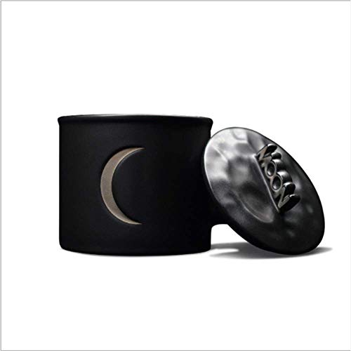 Fase Lunar Calendario Taza AR con La Luna Noche Temática Negro + Luz Luna Plata Cubierta Copa + AR Fase Luna del Calendario Y del Estado Ánimo Día Firmado 180Ml Blanca Taza Luna Conjunto